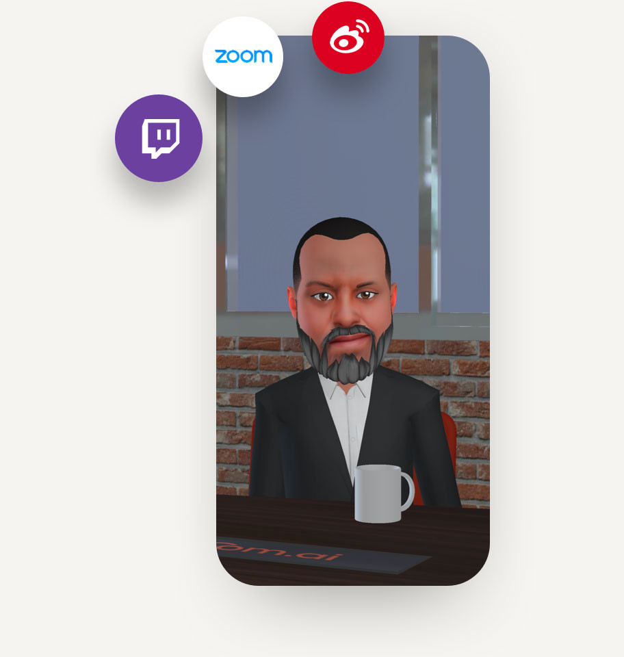 Upload your avatar to the Loom Avatar Management System and use it across apps and integrations.